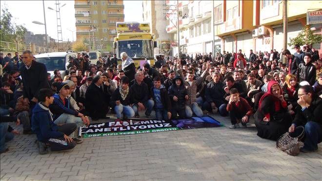 Kızıltepe`de elektrik kesintisi protestosu