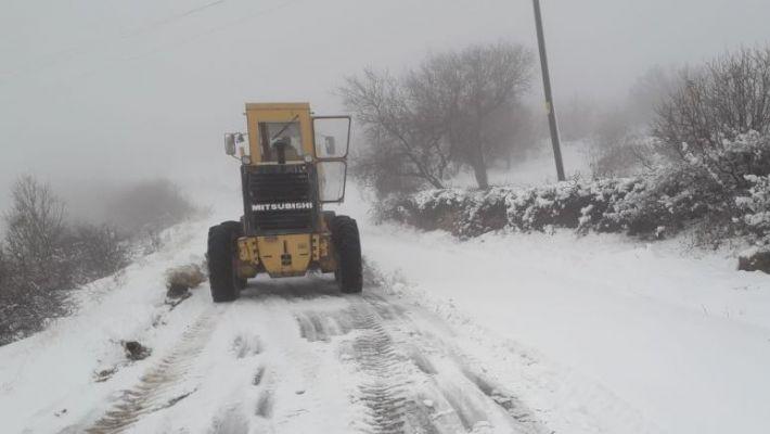 Büyükşehir Belediyesinden karla mücadele