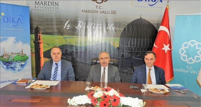 Mardin Valiliği, Büyükşehir Belediyesi ve DİKA arasında 10 milyonluk Destek Protokolü İmzalandı