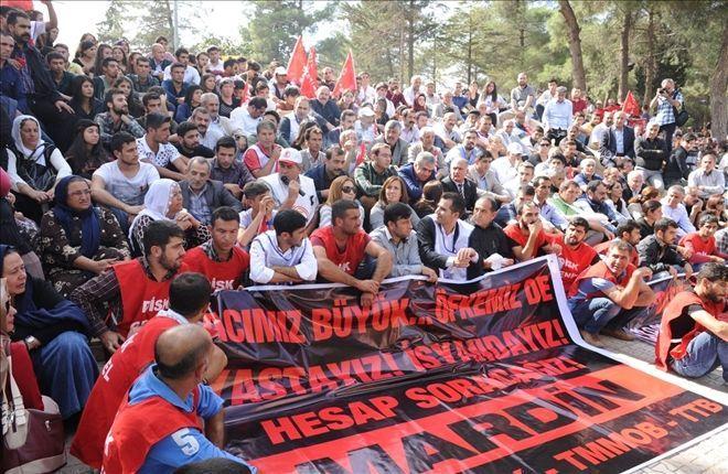 Ankara katliamı Mardin´de protesto edildi