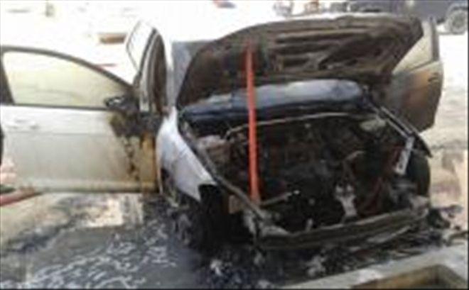 Araçlar aşırı sıcaktan yandı