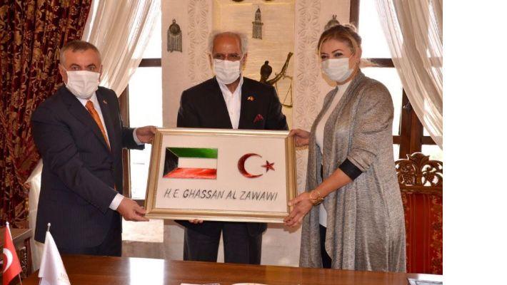 Midyat Belediye Başkanı Şahin, Kuveyt  Büyükelçisi Al-Zawawi, misafir etti