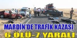 Mardin`de Feci Trafik Kazası