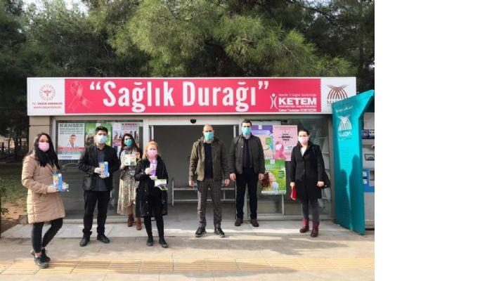Mardin'de Dünya kanser gününde vatandaşlar bilgilendirildi