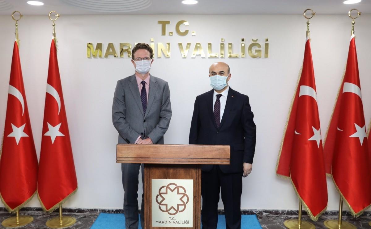 AB Türkiye Delegasyon Başkanı Mardin Valisini Ziyaret etti