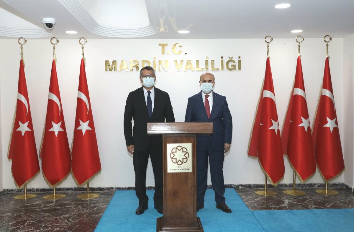 Azerbaycan Büyükelçisi İbrahim'den Vali Demirtaş'a ziyaret