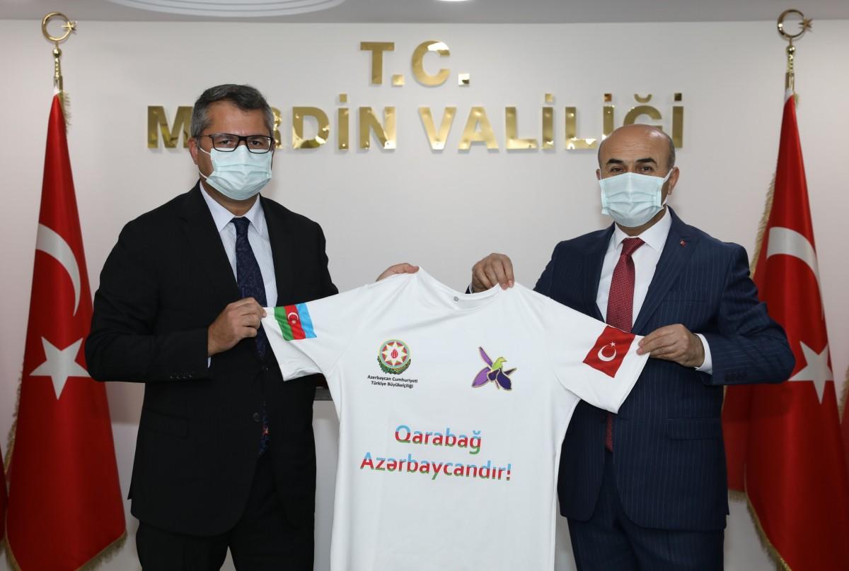 Azerbaycan Büyükelçisi Mardin'de