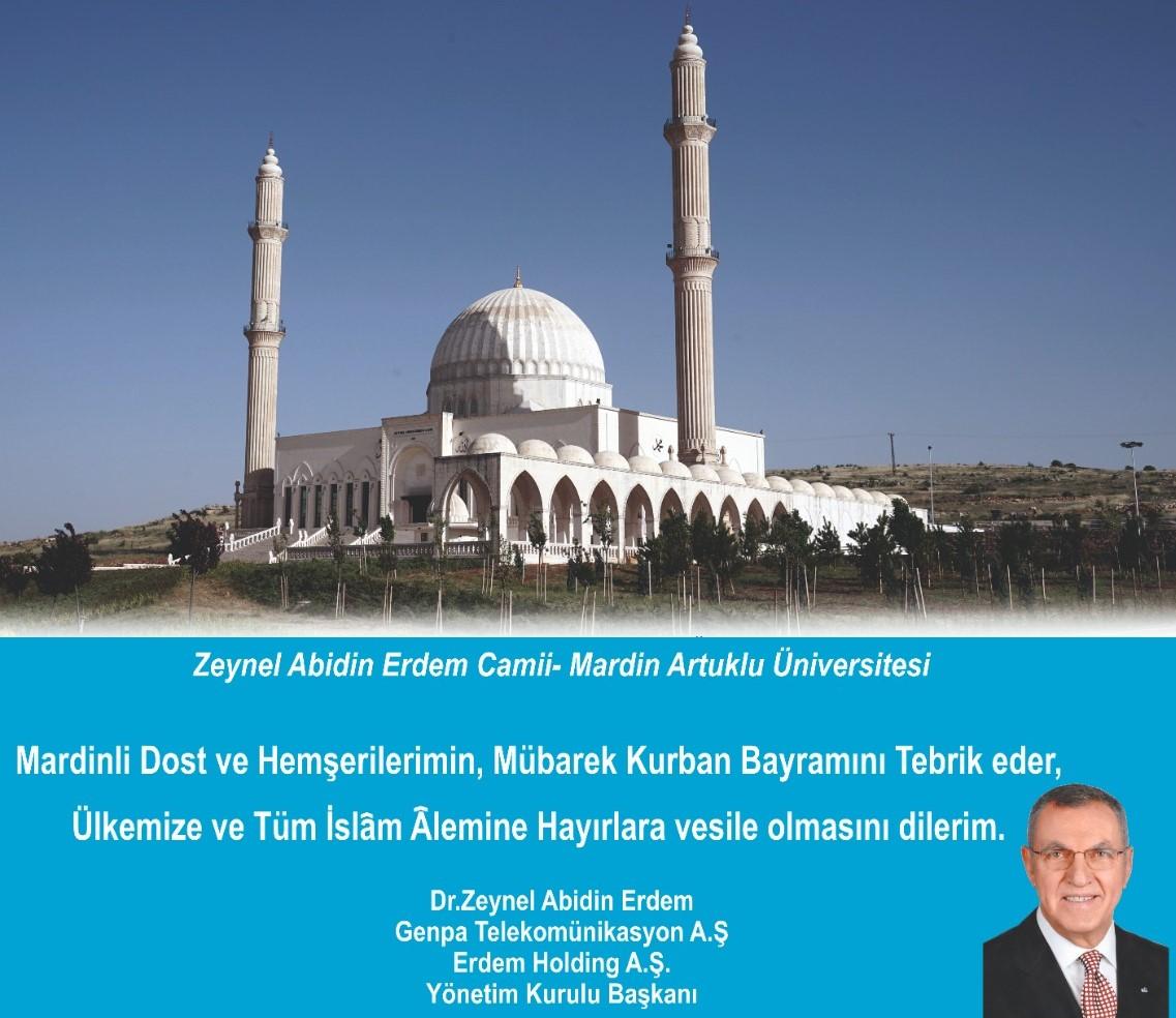 Dr. Zeynel Abidin Erdem'den Bayram Mesajı