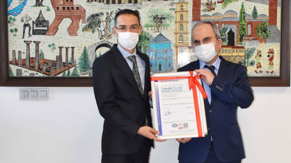 Limak Enerji, ISO 50001 belgeli ilk tedarik şirketi oldu