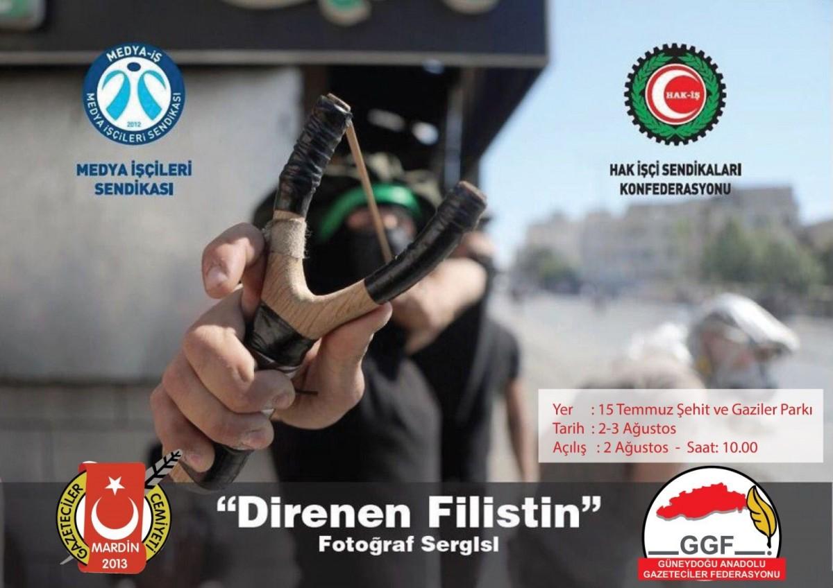 """Mardin'de """"Direnen Filistin"""" Fotoğraf sergisi"""