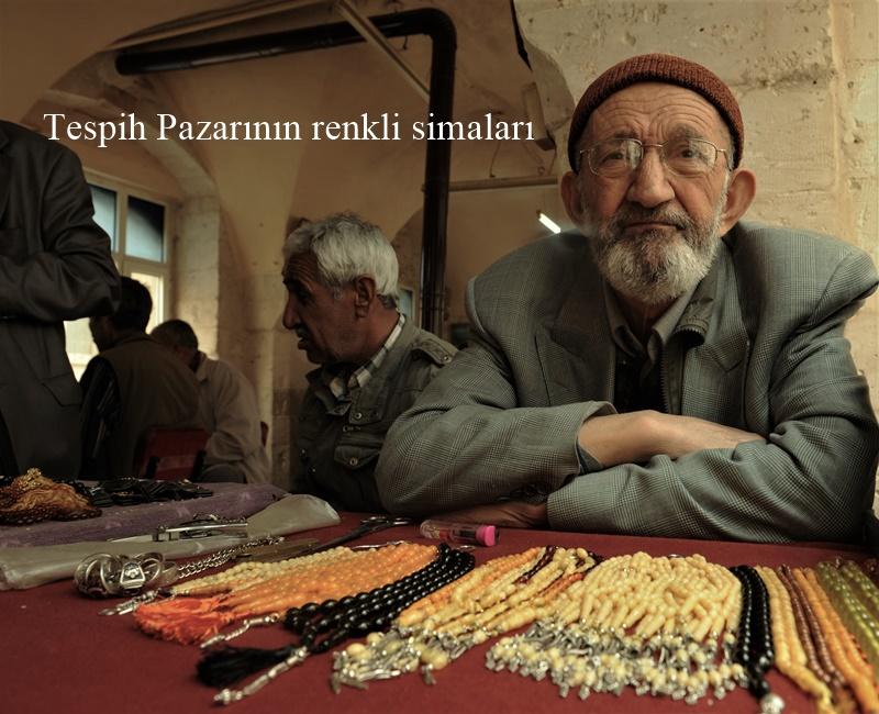 Mardin'de tespih pazarı