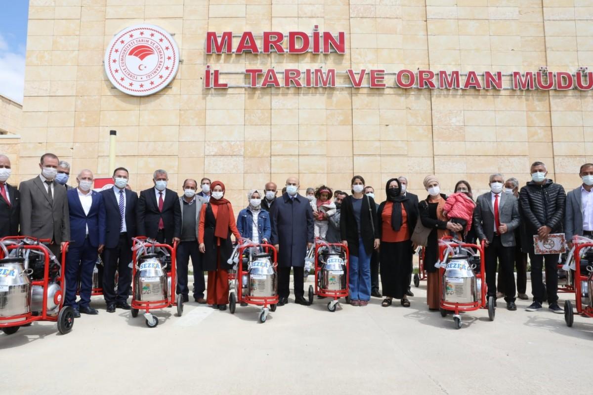 Mardin'de Besiciler  Makine ile sağım yapacak