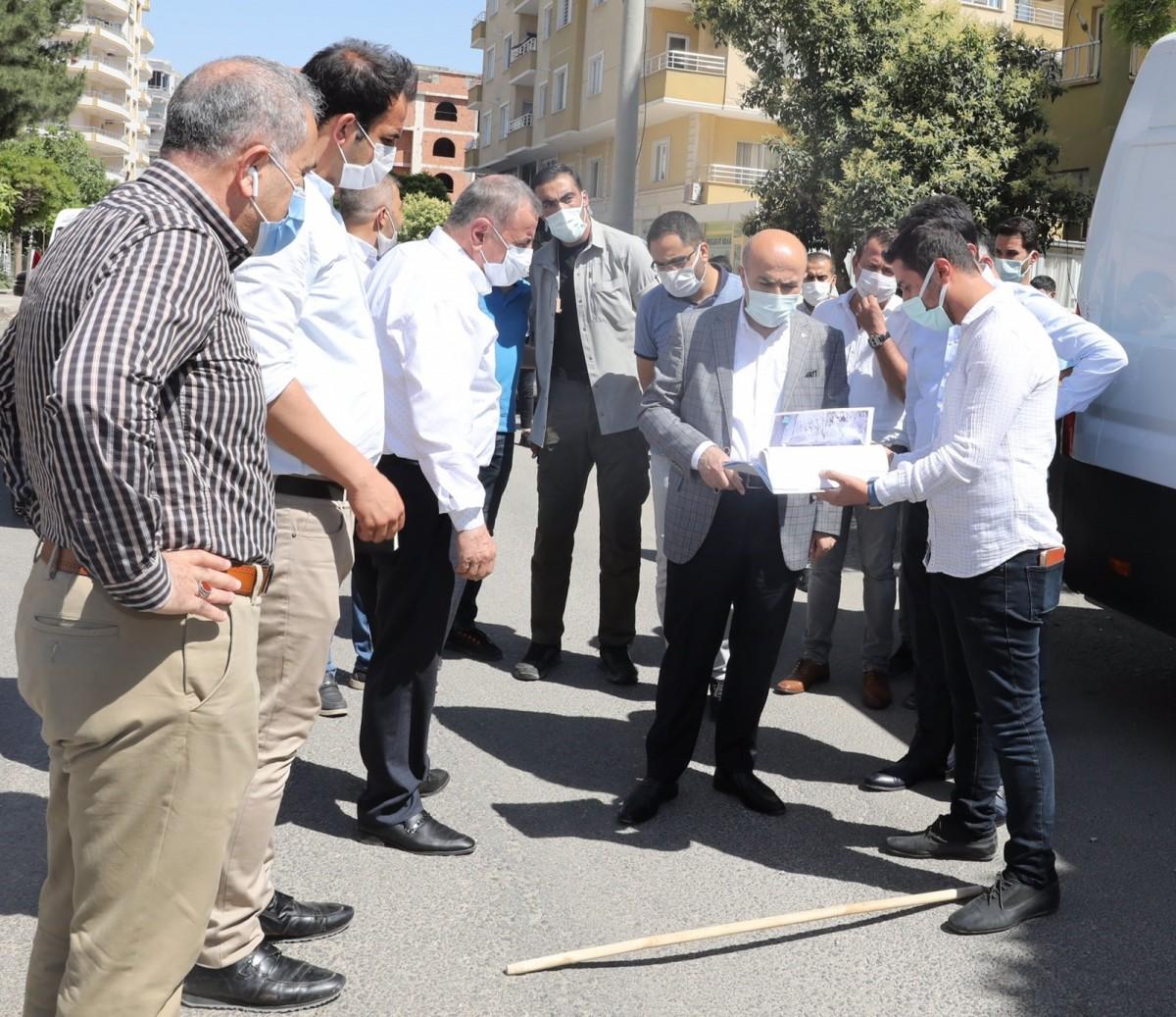 Midyat'ta yol yapım çalışmaları
