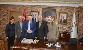 Mardin Gazeteciler Cemiyeti Kızıltepe Kaymakamını Ziyaret etti