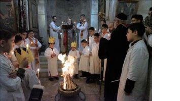 Mardin´de Kırklar  Kilisesinde Ateşli Ayin