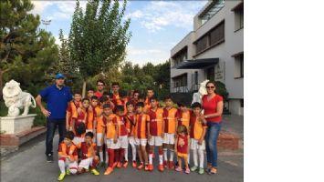 Nusaybinli Minikler Galatasaray antrenmanında