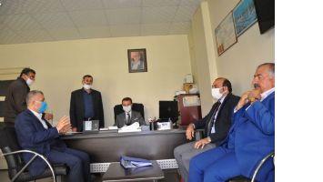 Kaymakam Aytemur Kızıltepe Hububat Ticaret Merkezini Ziyaret etti