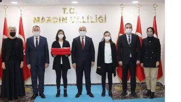 Mardin-Çanakkale hattı Bayrak devir teslimi