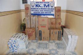 43 bin paket kaçak sigara ele geçirildi