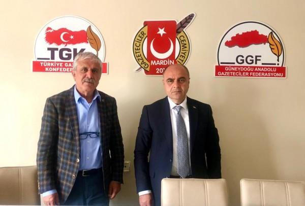"""Altındağ """"2 yıllık icraatlarını GGF Başkanı Çelik'e anlattı"""""""