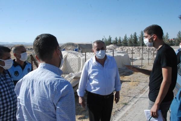 Başkan Şahin, yapımı devam eden projeleri inceledi