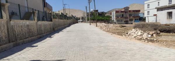 Dargeçit'te yol yapımı