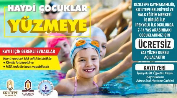 Haydi Kızıltepeli Çocuklar Yüzmeye