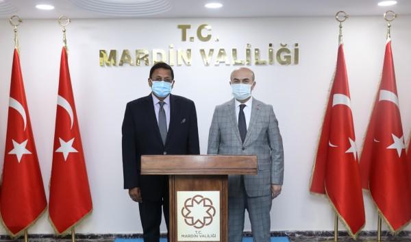 Hindistan Ankara Büyükelçisi Sanjay Panda'dan Vali Demirtaş'a Ziyaret