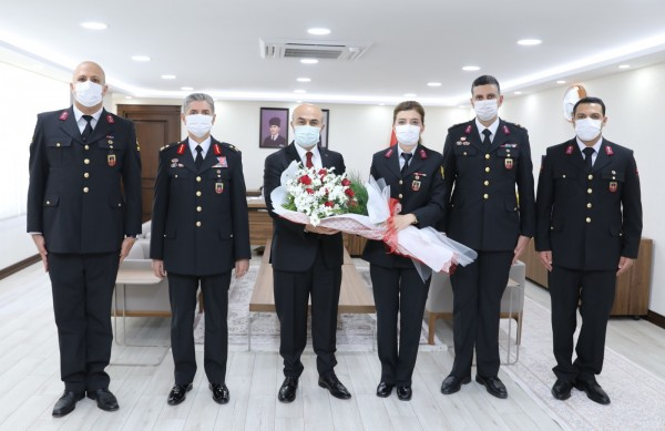 Jandarma'dan, Vali Demirtaş'a 182. Yıl Ziyareti