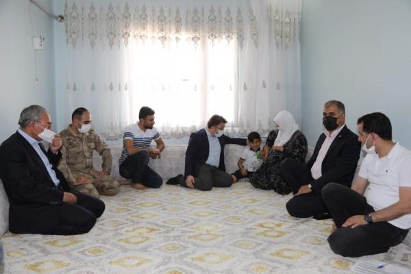 Kızıltepe'de, Şehit ailelerini unutulmadı