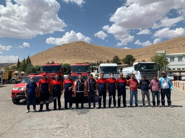 Mardin'den Antalya'ya Yangın Söndürme ekibi gönderildi.