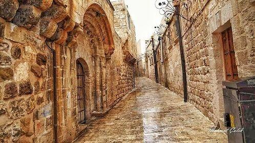 Mardin'de yağmur sonrası sokaklar
