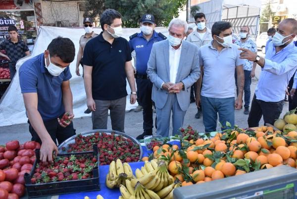 Mardin'de Pazar yerleri denetim altında