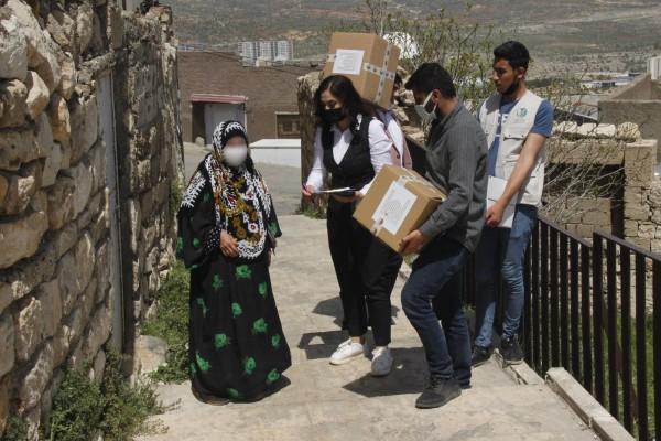 Suriyeli vatandaşlara, gıda ve hijyen yardımı